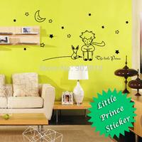 [listed in stock]-76x35m(30x1.7in) 13pcs Stars Moon The Little Prince Fox Wall Vinyl Children Fairy Tale Sticker (L1000193)