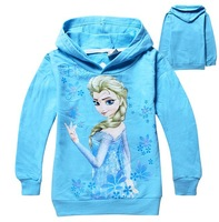 new children hoodies & sweatshirts frozen  autumn children outerwear hoodies velour casual girls hoody,free shipping