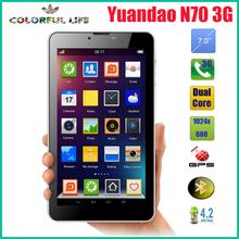 "New Yuandao Vido N70 3G  7"" Phone Call Tablet PC 1024x600 Dual Core Dual Sim Dual Camera  GPS(China (Mainland))"