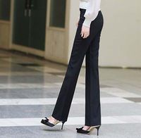 2014 Fashion New Winter Women Work Business Office Pants Straight Flares Slim OL Formal Trousers For Female Plus Size Black Navy