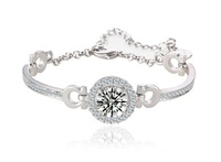 Wedding Romantic 2014 Hearts & Allows Cut 3 Carat AAA Swiss Cubic Zirconia Diamond Bracelet Luxury Jewelry Bracelets