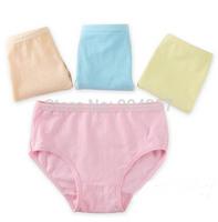 Wholesale Cotton Girls Panties Solid Color Underwear Briefs Underpants Kids Cartoon Shorts Pants Boxer