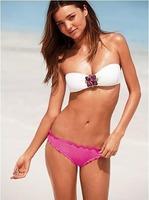 New Sexy Women Bikini Set Push-up Padded Top And Panty Floral Bathing Suit Swimwear Free Shipping