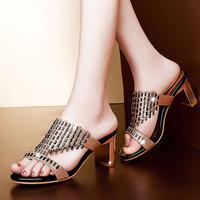 2014 New Summer Corium Elegant ladies Slippers women sandals Fashion shoes  DunHu1101