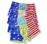 Wholesale Modal Flag Stripes Star  Boys Panties  Kids Underwear  Briefs Underpants  Shorts Pants Boxer