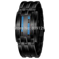 Skmei 0926 Men Sports Military Watches Fashion Design Brand Binary Led Watch Students Bracelet 30M Waterproof Watches (Black)