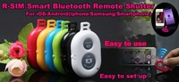 Wholesale 50 Pcs/Lot Universa Bluetooth Remote Shutter Camera Control Self-timer Shutter for iPhone Samsung Nexus Xiaomi Sony