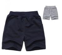 New Arrival! Classical Kids Boys 100% Cotton Shorts Solid Color Child Casual Sport Short Pants Elastic Waist Children Trunks