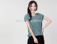 Cotton Ladies, T-shirts, linen, round neck short sleeve pullover, summer wild shirt.