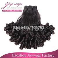 Hot sale 6A 3pcs/lot #1b tip curls virgin peruvian aunty funmi human hair weave funmi hair free shipping