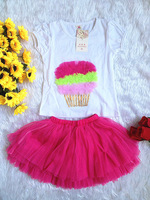2014 summer girls clothing sets girl t shirt top leggings girl tutu lace dress baby & kids clothes set short sleeve t-shirts