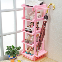 FREE SHIPPING!!! Japanese grade colorful five simple shoes cabinets multilayer plastic shoe rack K2490