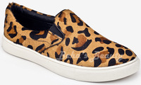New Womens Shoes Classic slip on sneakers Low Flats Heels leopard color