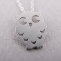 30PCS-N37 Fashion lovely vintage Night Owl Necklace Jewelry for women in Silver/gold-Free shipping