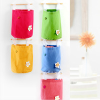 FREE SHIPPING!!! Soft flannelette candy color hanging storage bag free combination of multilayer storage bag single SN1533