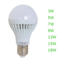 Wholesale E27 E14 Led Light Bulb 5W 7W 9W 12W 15W LED Bulb Lamp, 220v 240V Cold Warm White Led Spotlight Free Shipping
