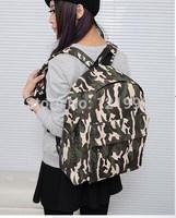 Unisex Fashion Vintage Casual Men Women Girl Travel Backpack Satchel Color Block School Bag Schoolbag Satchel Rucksack  BP-004