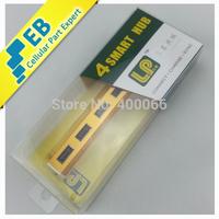 Aluminum USB2.0 High Speed 4 Ports USB Hub OTG Adaptor for Samsung, HTC, etc