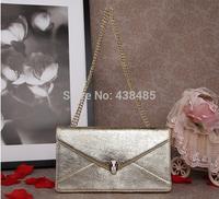 2014 Summer Snake Head Button Women Shoulder Bags Small Chain Bag Luxury Women Messenger Bags Handbags