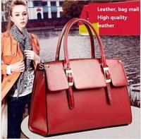 In 2014, the new brand true lady handbag purse, car suture style 100% cowhide single shoulder bag, inclined shoulder bag
