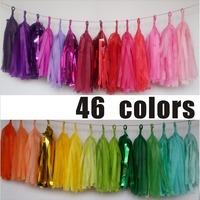 120pcs/lot  Wholesale  Popular Tissue Tassels Mint, Coral Pink Blue Gold  banners DIY kits