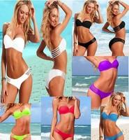 Fashion Sexy women Bikini Set Push Up Swimwear 2014 New Fashion Free Shipping Swimsuit Brand Style Women Bikinis  free shipping