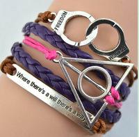 Anchor Love Bracelets & Bangles Owl Men Jewelry Leather Pulseras Women Rhinestone Set Charm 2014 Trendy