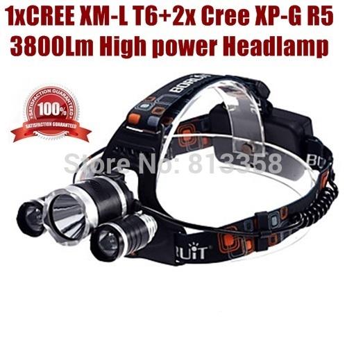 [해외]AloneFire HP83 높은 전력 1xCREE XM-L T6 2xCREE XP..