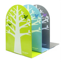 8 inch iron creative bookends clip book by dazzle colour fashion bookends children cartoon color trees bookshelf bookends