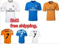 EMS free shipping, the Thai version. 2014 uefa champions league real Madrid football jerseys. Real Madrid jerseys