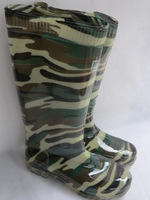 Shuangqian Camouflage rainboots water shoes safety rain boots high pure cow muscle male boots