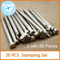 20pcs Leather stamping set  stamp for leather diy  Leather Carving Craft Stamp tool  Free Shipping
