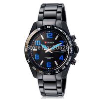 New 2014CURREN Analog Quartz Sports Watches Tungsten Steel men full steel watch military watches men jewelry freeshipping