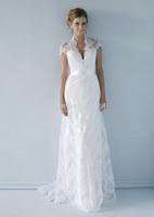 2014 Lace V Neck Backless Sash White Ivory Wedding Dress Custom Size 2 4 6 8 10 12 14 16 18 20++
