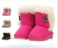 Free Shipping Children Boots Winter Shoes For baby Kids child snow boots, cotton-padded shoes Children Shoes size 19-35