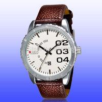New 2014 women dress watches CURREN 8125 Brand Analog Quartz Leather Strap men sports military watches ladies watch dropshipping