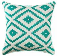 "18""x18"" geometric cushion cover home decorative pillow case blue"