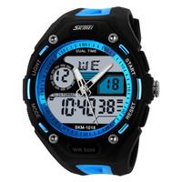 New 2014 Men Sports Watch Fashion Casual Dress watches 2 Time Zone Digital Quartz LED swim ladie dress watch freeshipping