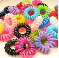 Phone cord hair circle Without Hurting Hair Christmas Gift free shiping 100Pcs/Lot JH6001