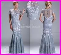 FCD3 designer best appliqued mermaid mother of the bride lace dress formal wear