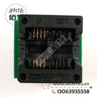 50PCS/lot 200mil SOP8 to DIP8 IC socket Programmer adapter Socket High Quality OTS-20-1.27-01 for 25xx eeprom flash