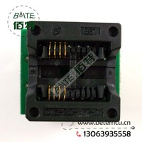 50PCS/lot 200mil SOP8 to DIP8 IC socket Programmer adapter Socket High Quality OTS-20-1.27-01 for 25xx eeprom flash
