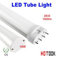 18w led tube lighting 2G11 4pin 4 pin 220V Indoor lighting 2835 SMD 540mm 54CM Lamp 85V~265V warranty 2 years CE RoHS x 10 PCS