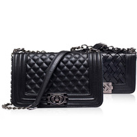 New 2014 fashion women messenger bags handbags solid cover PU leather G024