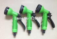 Free Shipping    3pcs/lot   Garden Hose Spray Nozzle  / Sprayer Gun 7 Functions With Black Connector
