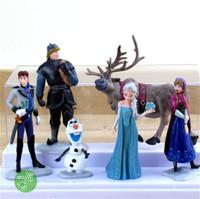 Free Shipping Frozen Vinyl Doll (Olaf Anna Elsa Hans)
