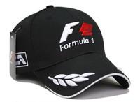 2014 New moto gp F1 racing cap grain white embroidery Black Motorcycle sports cap baseball cap hat Drop shipping