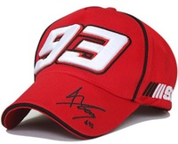 2014  Moto gp 93# marquez Sign F1 racing cap III93 embroidery Red Black Motorcycle sports cap baseball cap hat Wholesale