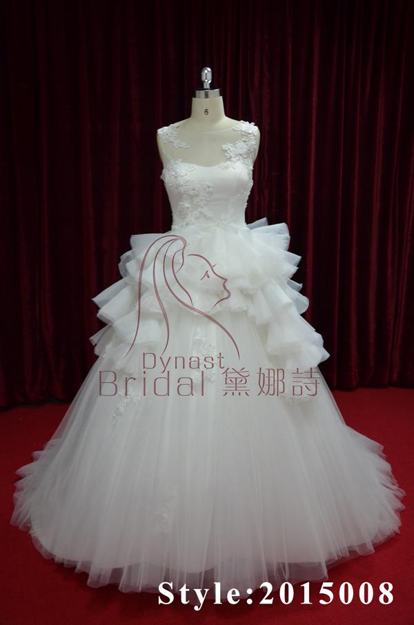 الشحن مجانا! في عالم الأزياء تصميم خاص الساتان الكرة ثوب ثوب الزفاف الدانتيل البندقية/ ثوب الزفاف/ ملابس الزفاف