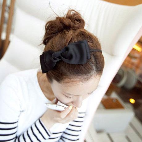 Treasure hundred fashion big bow headband hair hoop hairpin Korean imports of hair jewelry with simple jewelry(China (Mainland))